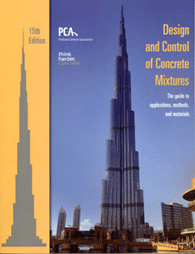 Design and Control of Concrete Mixtures 15th Edition