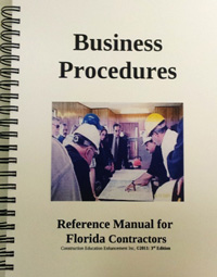 Business Procedures Reference Manual for Florida Contractors, GITS, LLC, 3rd Ed.
