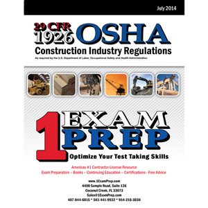 Code of Federal Regulations, (OSHA) 29 Part 1926, 2014. (Revised July 1, 2014)